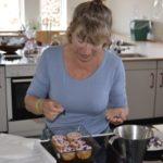 Kvanmuffins med rosentop